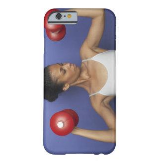 Pesas de gimnasia de elevación 3 de la mujer funda barely there iPhone 6