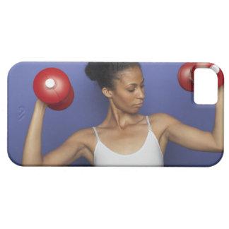 Pesas de gimnasia de elevación 3 de la mujer funda para iPhone SE/5/5s