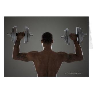Pesas de gimnasia de elevación físicamente cabidas tarjetón