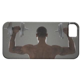 Pesas de gimnasia de elevación físicamente cabidas iPhone 5 fundas