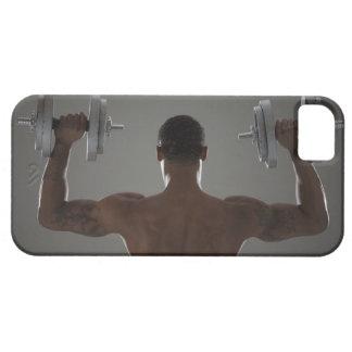 Pesas de gimnasia de elevación físicamente cabidas iPhone 5 Case-Mate protectores