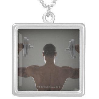 Pesas de gimnasia de elevación físicamente cabidas collares personalizados