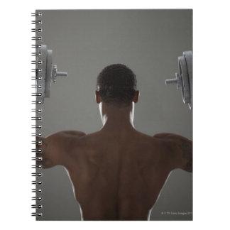 Pesas de gimnasia de elevación físicamente cabidas cuaderno