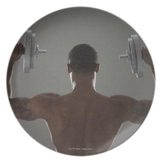 Pesas de gimnasia de elevación físicamente cabidas platos para fiestas