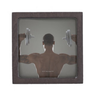 Pesas de gimnasia de elevación físicamente cabidas caja de recuerdo de calidad