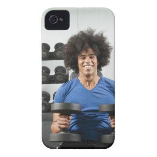 Pesas de gimnasia iPhone 4 Case-Mate cobertura