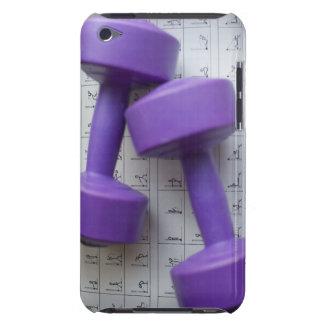 Pesas de gimnasia púrpuras iPod touch coberturas