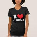 Pesca.  Amo el pescar Camisetas