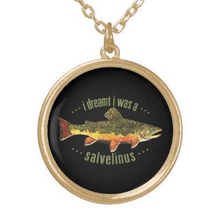 Pesca chistosa de la trucha colgante redondo
