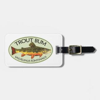 Pesca chistosa de la trucha etiquetas bolsas