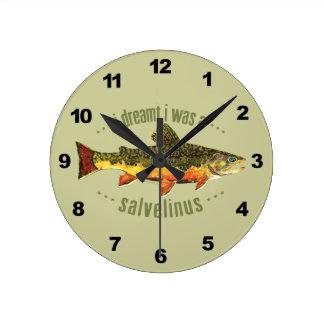 Pesca chistosa de la trucha reloj redondo mediano