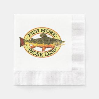 Pesca chistosa de la trucha servilleta de papel