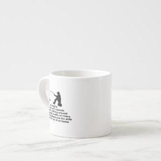 Pesca chistosa taza espresso