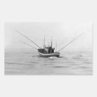 Pesca con cebo de cuchara con cebo de cuchara del rectangular pegatina