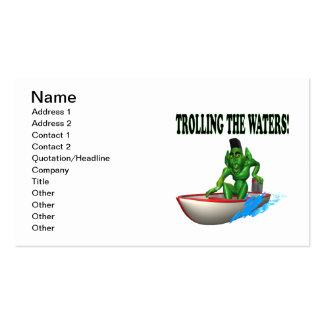 Pesca con cebo de cuchara de las aguas con cebo de tarjeta de visita