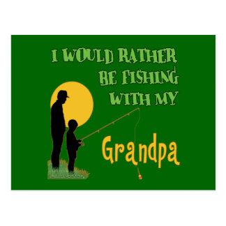 Pesca con el abuelo postal