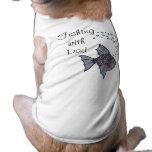 Pesca con el papá camisetas de mascota
