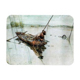 Pesca con las redes 1905 iman flexible
