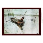 Pesca con las redes 1905 tarjeta de felicitación