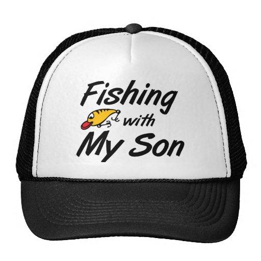 Pesca con mi hijo gorras