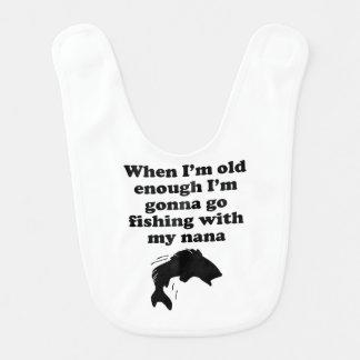Pesca con mi Nana Baberos De Bebé