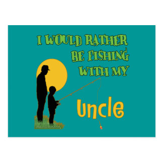 Pesca con mi tío tarjeta postal