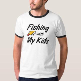 Pesca con mis niños que pescan las camisetas del remeras
