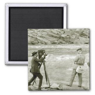 Pesca con mosca 1918 imán de nevera