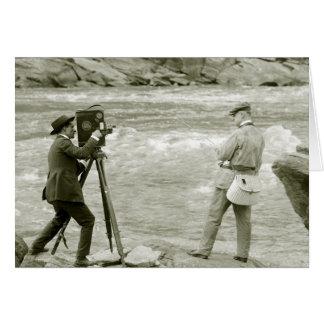 Pesca con mosca 1918 tarjeta