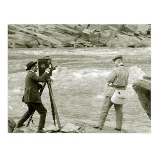 Pesca con mosca 1918 postales