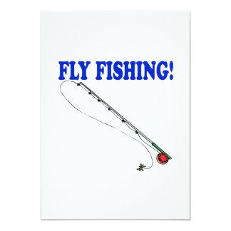 "Pesca con mosca 2 invitación 5"" x 7"""