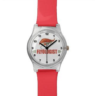 Pesca con mosca chistosa reloj