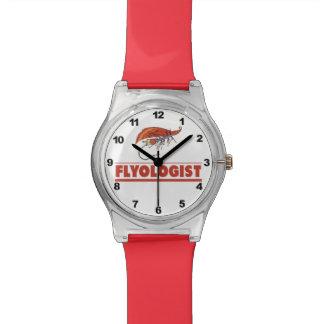 Pesca con mosca chistosa relojes de mano