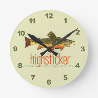 Pesca con mosca de Highsticker Relojes De Pared