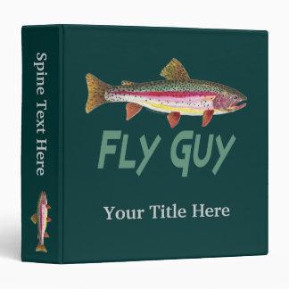 "Pesca con mosca de la trucha arco iris carpeta 1 1/2"""