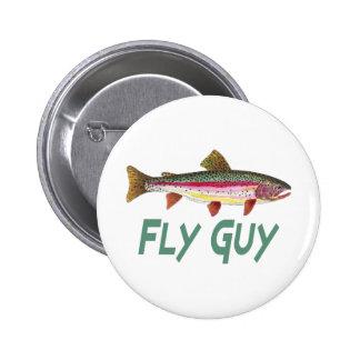 Pesca con mosca de la trucha arco iris pin