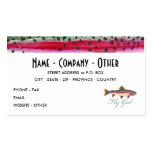 Pesca con mosca de la trucha arco iris plantilla de tarjeta de visita
