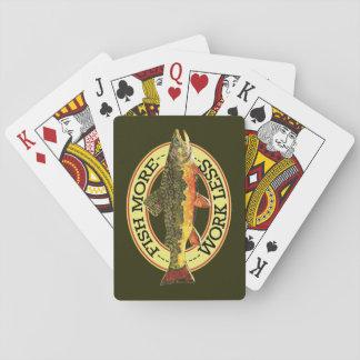 Pesca con mosca de la trucha de arroyo cartas de póquer