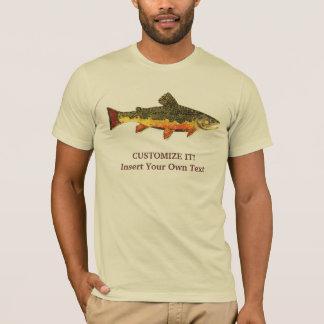 Pesca con mosca de la trucha de arroyo playera
