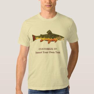 Pesca con mosca de la trucha de arroyo playeras