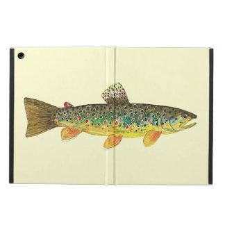 Pesca con mosca de la trucha de Brown