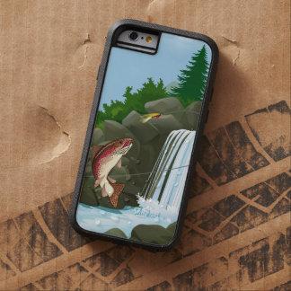 Pesca con mosca de la trucha de la cascada funda de iPhone 6 tough xtreme