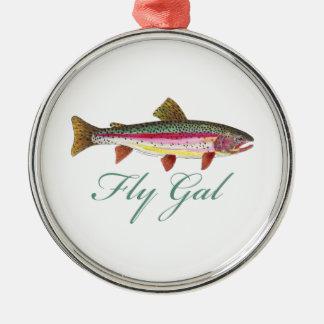 Pesca con mosca de la trucha ornamento para reyes magos