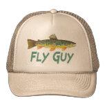 Pesca con mosca de la trucha gorro
