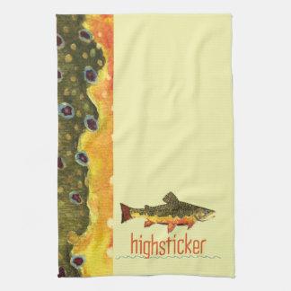 Pesca con mosca de la trucha toalla