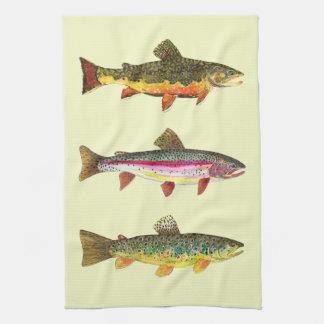 Pesca con mosca de la trucha toallas de mano