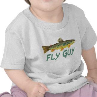 Pesca con mosca de la trucha camiseta