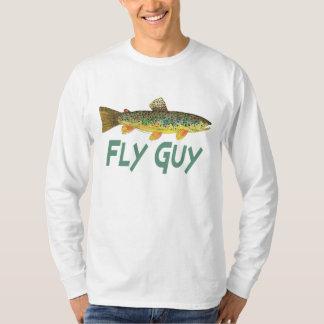 Pesca con mosca de la trucha remera
