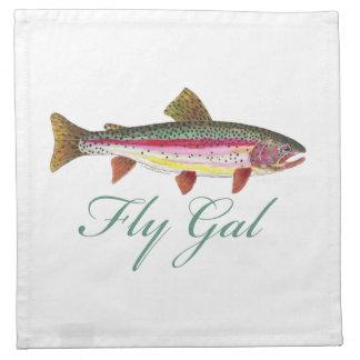 Pesca con mosca de la trucha servilleta