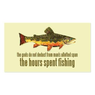 Pesca con mosca de la trucha tarjetas de visita